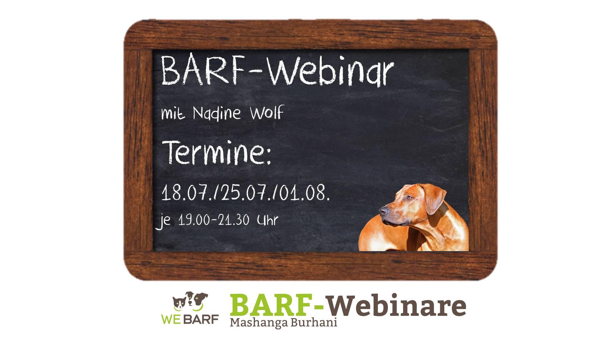 Umfassende BARF-Webinar-Reihe